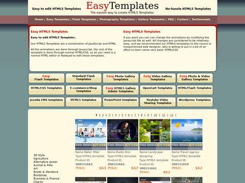 Easytemplates Flash Templates