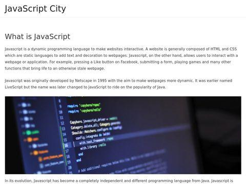 JavaScript City